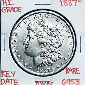 1887 O MORGAN SILVER DOLLAR HI GRADE U.S. MINT RARE KEY COIN 6958