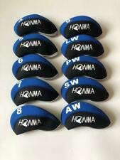 10PCS Golf Iron Headcovers for Honma Club Covers Caps 4-LW Blue&Black Protector