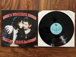 Nick Cave & Shane Mac Gowan Vinyl LP What a wonderful world VG