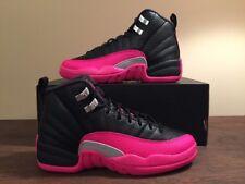 Nike Air Jordan Retro 12 XII GG Black & Deadly Pink Sz 4Y NEW 510815 026