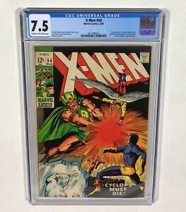 "X-MEN #54 CGC 7.5 KEY! (1st Alex Summers ""Havoc"" 1st Living Pharaoh) 1969 Marvel"