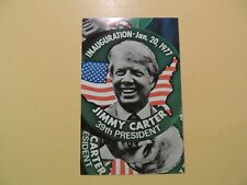 President Jimmy Carter vintage postcard inauguration pin January 1977