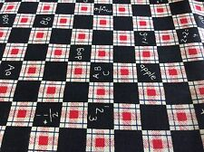 CHALKBOARD PLAID #2286 BY FABRIC TRADITIONS -COTTON-- BY THE YARD