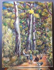 Ecole Provençale Tableau Ancien cap brun Toulon antic french painting 1950