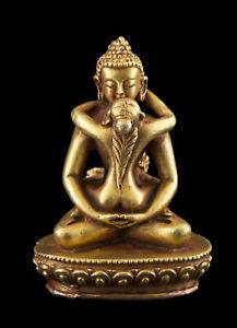 Buddha Samantabhadra Statue Tibetan Copper Top Quality 56 MM Nepal 26692