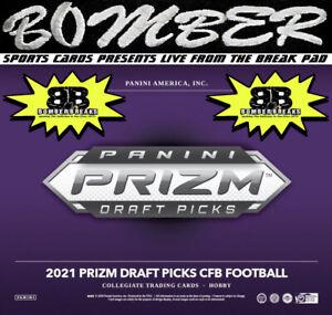Carolina Panthers 2021 Panini Prizm Draft Picks Football Hobby 4-Box Break 3