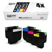 4x ECO Toner für Lexmark X-546-DTN X-543-DN C-544-DTN X-548-DE X-548-DTE