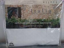 Italia Sferra Standard Sham Diamond Pique White 21 x 26