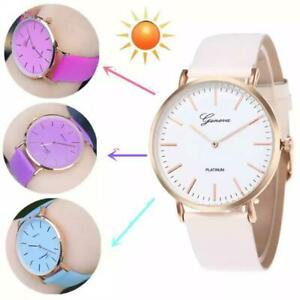 New Fashion Simple Style Temperature Change Color Women Wrist watch