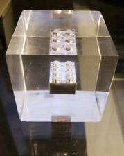 RARE LEGO SYSTEMS INC. EMPLOYEE CHROME LEGO BRICK LUCITE DISPLAY PAPERWEIGHT 1/1