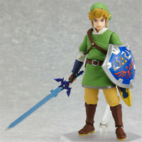 Hot The Legend of Zelda: Skyward Sword Link Action Figure Figma 153 Toy With Box