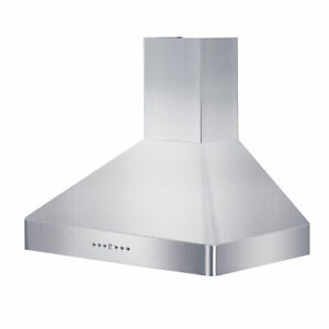 ZLINE KF2-36 36-Inch Mount Wall Range Hood in Stainless Steel with 2 LED Lights