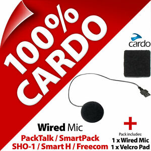 Cardo Scala Rider Wired (Corded) Microphone Mic PackTalk SmartPack SHO-1 Freecom