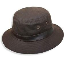 Buckleys Oilskin Bucket Hat in Brown