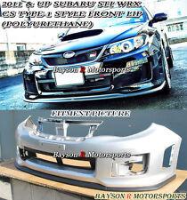CS Type-1 Style Front Lip (Urethane) Fits 11-14 Impreza WRX STi