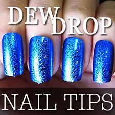 2012 NEW Series 60 PCS Dew Drop Metallic False Full Nail Tips 204-3 Blue