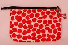 Bath & Body Works Red Giraffe Print Cosmetics Bag - Possible to Attach to Chain