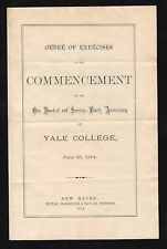 1874 Yale Graduation Prog. ED BOUCHET FIRST BLACK Ph.D