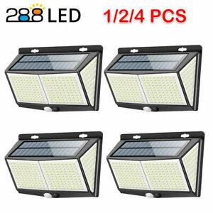 Außen Solarlampen 288 LED Solarleuchte mit Bewegungsmelder Garten Patio Licht