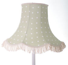 Clarke and Clarke sage green dotty lampshade for standard lamp or ceiling