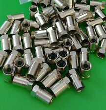 (100 PCS) F Type RG6 Compression Connector for RG6 Plenum Cable - USA Seller