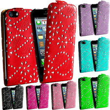 Diamond Bling Glitter Diamante Flip Magnetic Case Cover For Apple iPhone 4 4S