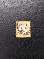 Germany #16 Used, 1872 1/2 gr Orange Large Shield,  Scott Catalog Value $ 9.00