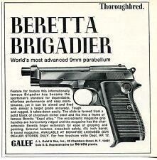 1968 small Print Ad of JL Galef Beretta Brigadier 9mm Pistol thoroughbred