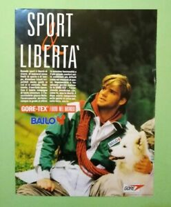 Pubblicita'Advertising Originale Vintage BAILO giacca impermeabile 1986 (A25)