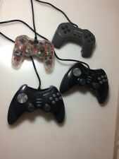 Lot Of 4 Playstation PS2 Controllers Generic Afterglow Stormchaser 2 Super Pad