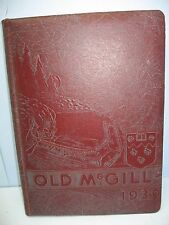 1939 Old McGill, McGill University, Montreal, Canada Yearbook