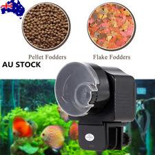 Fish Food Automatic Feeder Aquarium Tank 12/24 Hours Feeding Timer flake/pellet