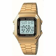 Casio Men's Digital Watch, Gold & Black, A178WGA-1ADF