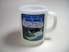 VTG Anchor Hocking Fire King D Handle Coffee Mug Cup Pokagon Park Angola Indiana