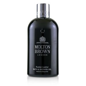 NEW Molton Brown Russian Leather Bath & Shower Gel 300ml Mens Skin Care