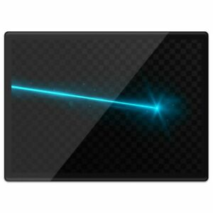 Quickmat Plastic Placemat A3 - Awesome Blue Laser Light Fun  #3850
