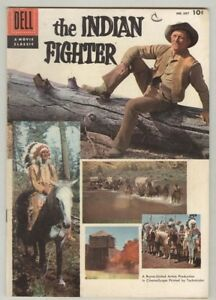 """Four Color #687 VG 1956 """"The Indian Fighter"""" Kirk Douglas photo cover"""