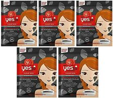 5 x Yes to Tomatoes Moisturising Powder to Clay Face Mask Detoxifying Charcoal