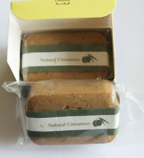 (2) Pack Hand Made All Natural Olive Oil Soap with Cinnamon 100gm/3.5oz