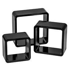 3 Estanterias foltantes cubos de pared muro forma estante retro librero negro NU