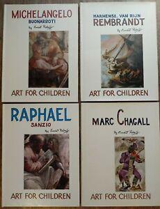 Lot of 4! Art For Children Ernest Rabott- Michelangelo/Rembrandt/Raphael/Marc Ch