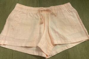 NWT Lilly Pulitzer Baybreeze Linen Short Paradise Pink Elastic Waist Size M