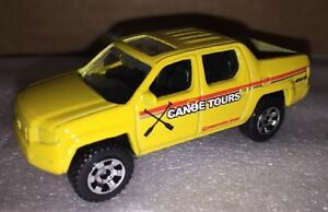 Matchbox - New loose yellow Honda Ridgeline W/ Hitch For Pulling 1:64 Die Cast
