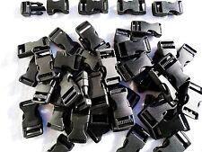 50 Negro Plástico Hebilla Lateral 20mm-Fijaciones, Correas, Paracord etc.