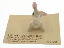 Vintage Hagen Renaker Figure Listening Rabbit Baby, Model A-199 Min, Miniature