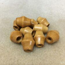 25 x BIG HOLE Bicone 17mm WOOD BEADS - Macrame/Craft/Beading Light Wood
