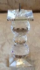 Retired 4� Swarvoski Crysral Pin Candleholder