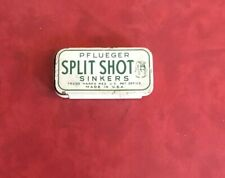 Vintage Pflueger Split Shot Fishing Sinkers Empty Tin