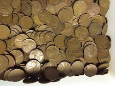 """Wheat Cents 1000 OLD Pennies All """"S"""" MINTS 1940-1955 Nice  Mix Of Dates.#2"""