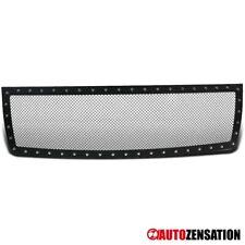 For 2007-2013 GMC Sierra 1500 Pickup Black Rivet Style Upper Hood Grille Insert
